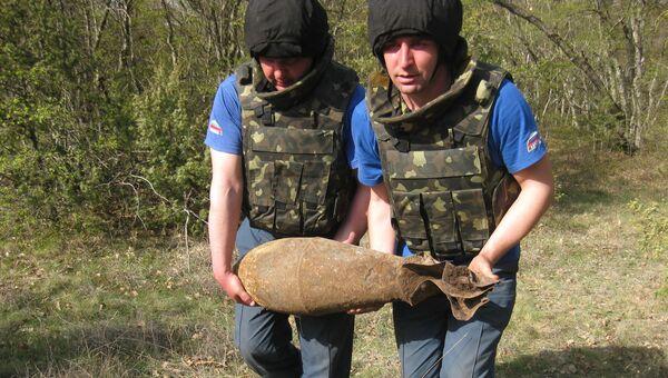 Ликвидация боеприпасов в районе Керчи