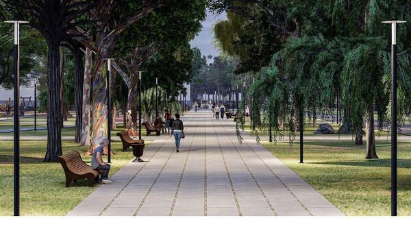 Новый проект благоустройства зеленых зон вдоль набережной реки Салгир