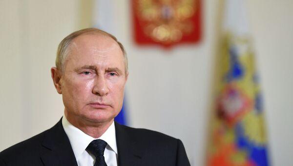 Президент РФ В. Путин выступил с приветствием участникам и гостям форума Армия - 2020 и Армейских международных игр - 2020