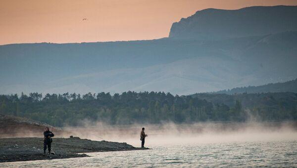 Симферопольское водохранилище, утро