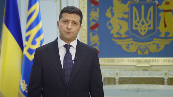 Скриншот видеообращения президента Украины Владимира Зеленского к Генассамблее ООН