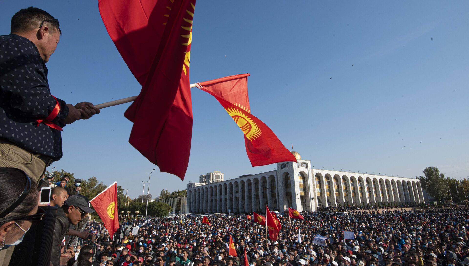 Kyrgyzstan Parliamentary Elections Protest - РИА Новости, 1920, 06.10.2020