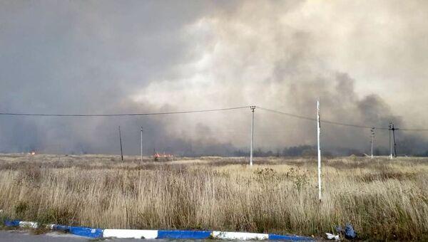 Взрывы на бывших военных складах в Рязанской области