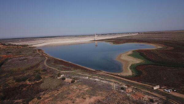 Как обмелело Межгорное водохранилище