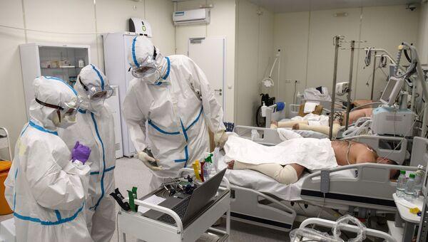 Госпиталь COVID-19 в ледовом комплексе Крылатское