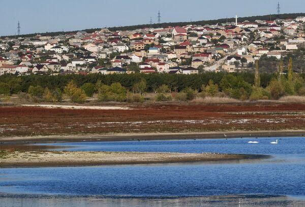 Вид на Бахчисарайское водохранилище в Крыму