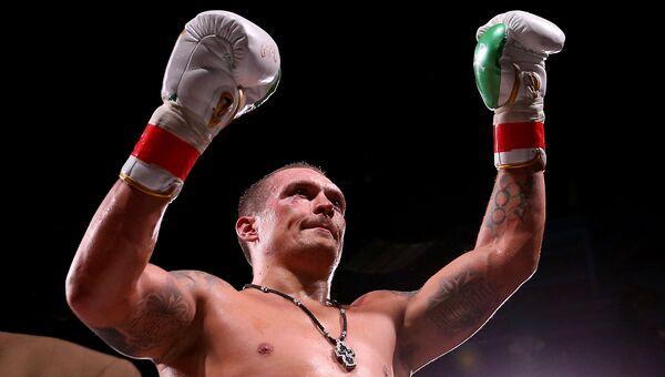 Украинский боксер крымского происхождения Александр Усик. Архивное фото