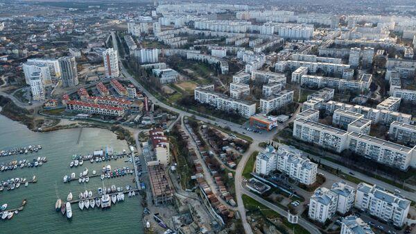 Вид на Стрелецкую бухту в Севастополе