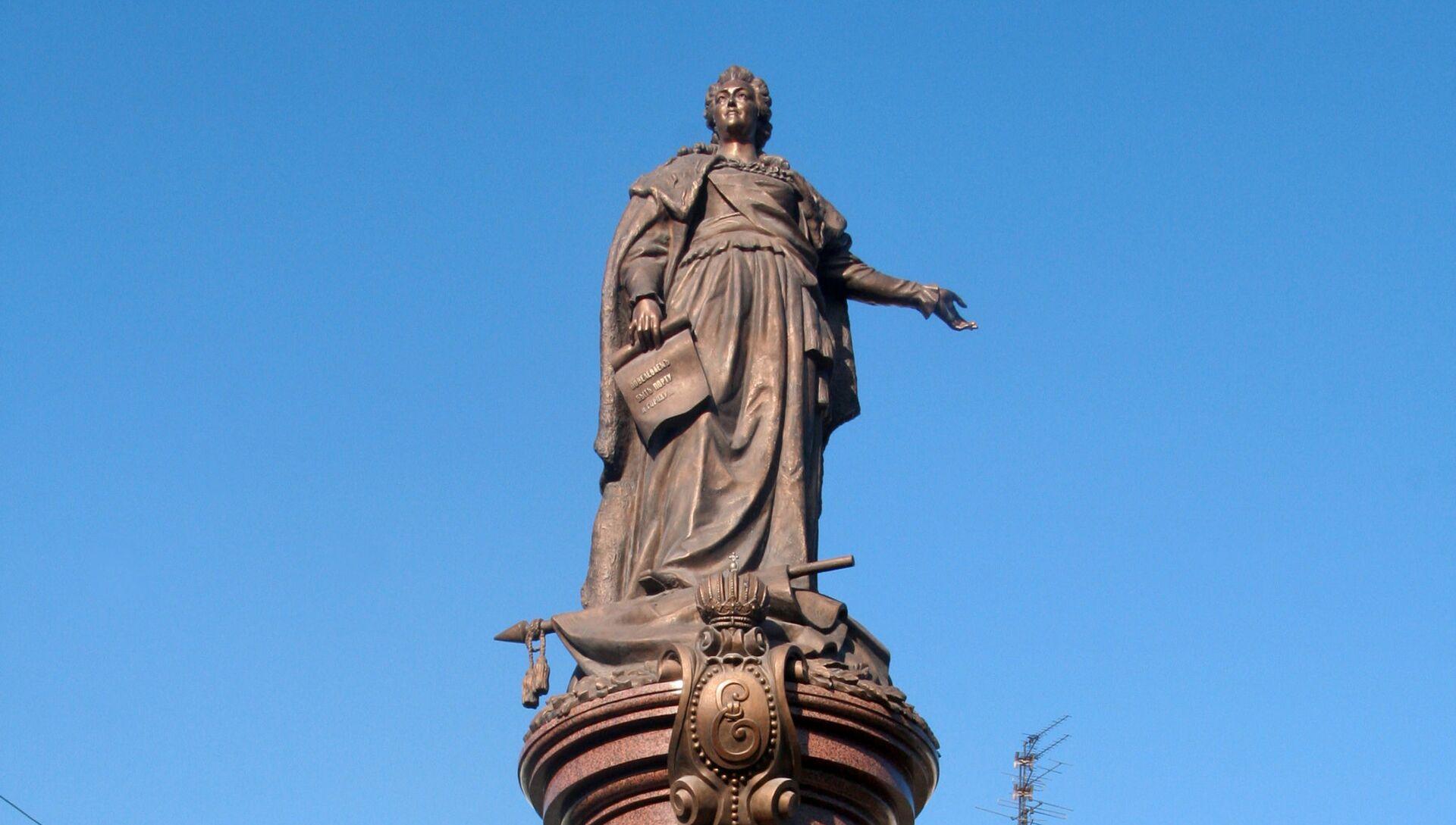 Памятник российской императрице Екатерине ІІ в Одессе - РИА Новости, 1920, 08.11.2020