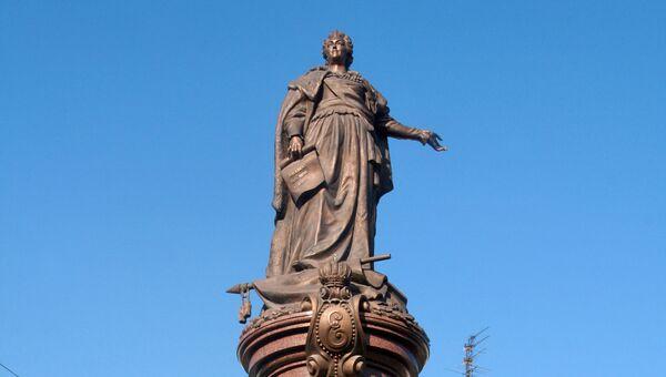 Памятник российской императрице Екатерине ІІ в Одессе
