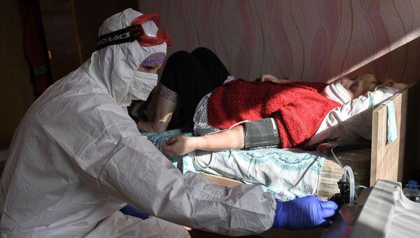 Работа ковид-госпиталя в Евпатории