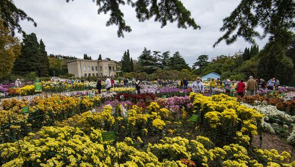 Никитский ботанический сад, бал хризантем