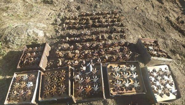 Обнаруженные боеприпасы