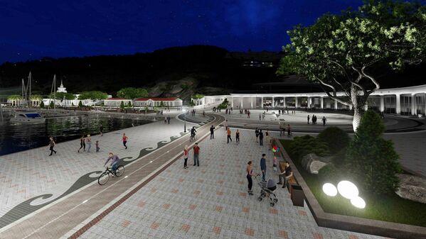 Особое внимание авторы проекта уделили пешеходным зонам и велодорожкам вокруг Балаклавской бухты.