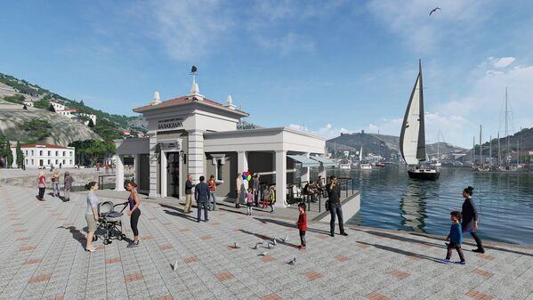 Новое здание пассажирского причала будет оформлено также в современном стиле.