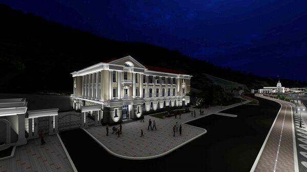 Такой планируется подсветка зданий в Балаклаве.