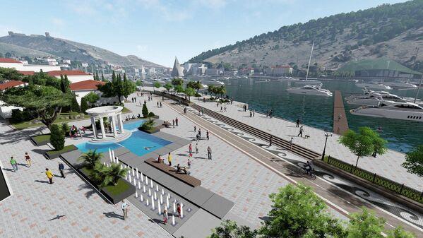 На площади 1 Мая архитекторы задумали расположить ротонду и фонтан.