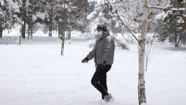 Снегопад в Краснодарском крае