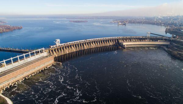 Днепровская гидроэлектростанция (ДнепроГЭС) в Запорожье