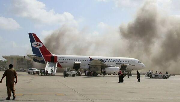Взрыв в аэропорту Адена (Йемен)
