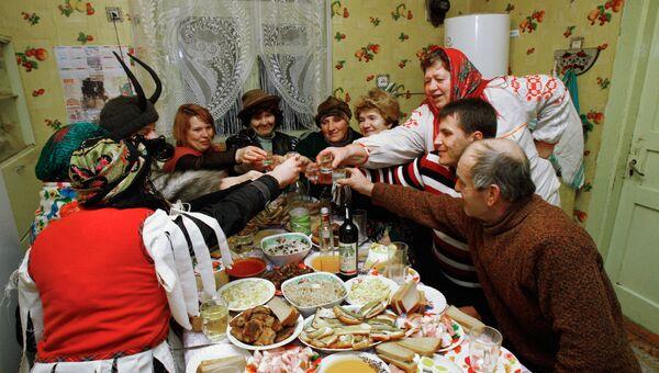 Колядные гуляния в Белоруссии