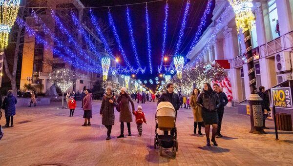 Симферополь. Вечерняя иллюминация