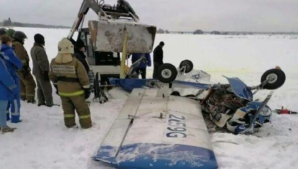 Упавший в Ленобласти самолет