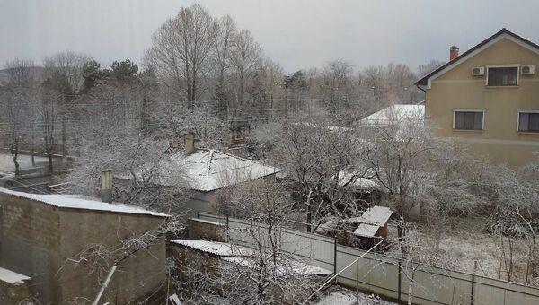 Снегопад в Симферополе 10 января 2021 года