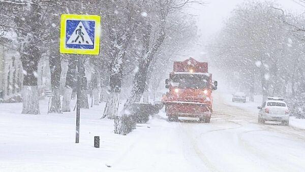 Снегопад в Феодосии