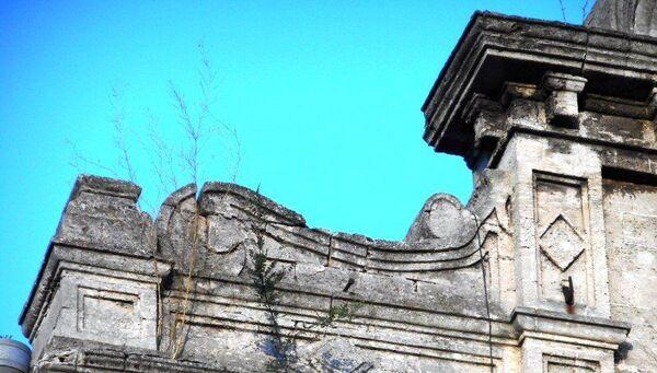 Фрагмент здания женской Романовской гимназии в Керчи
