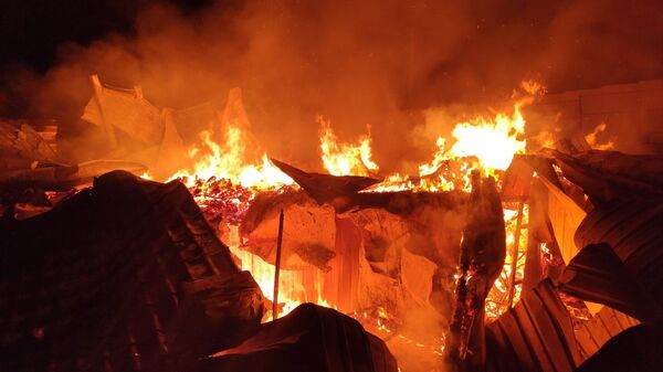 Пожар в Феодосии
