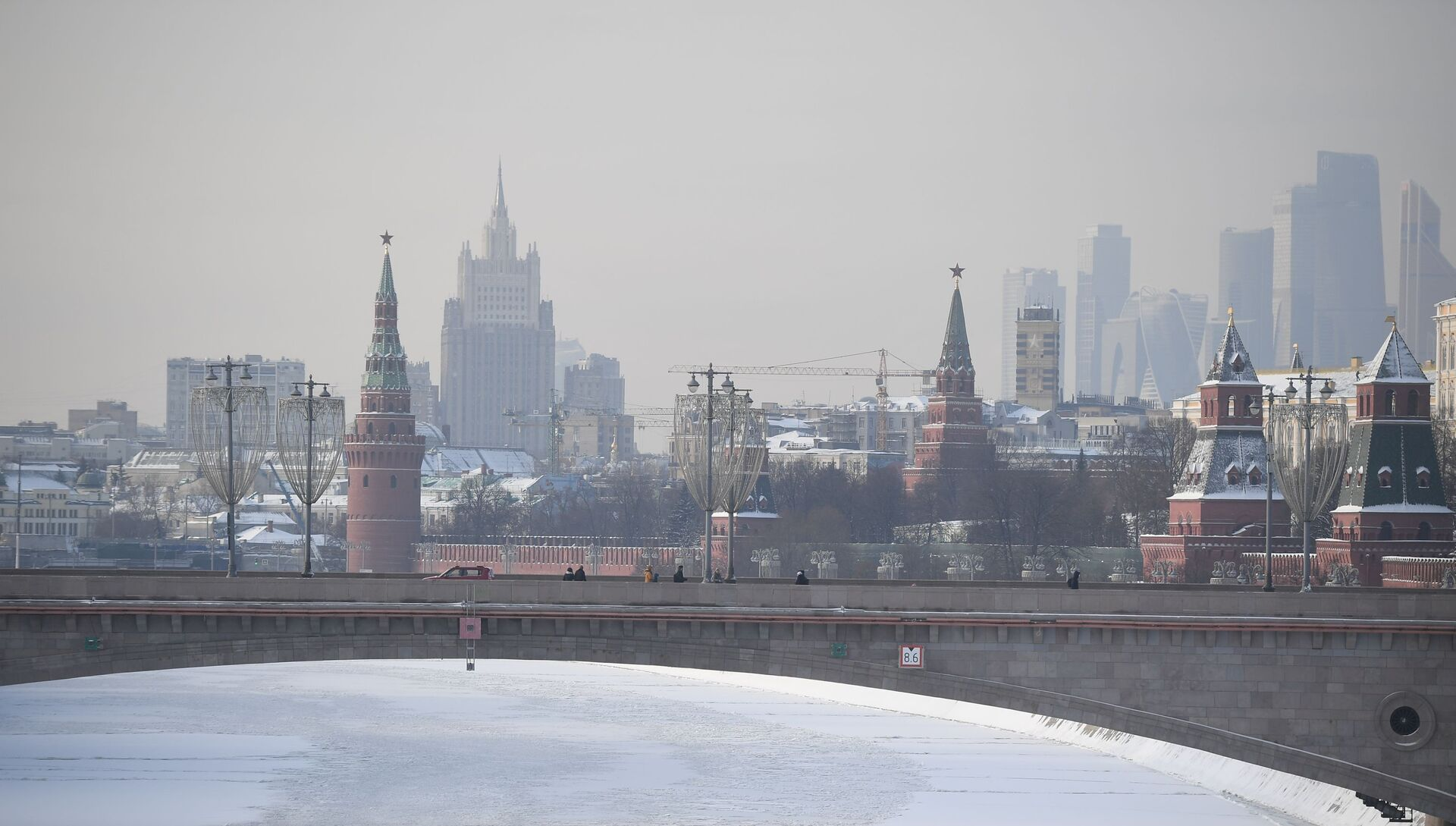 Зима в Москве - РИА Новости, 1920, 02.03.2021