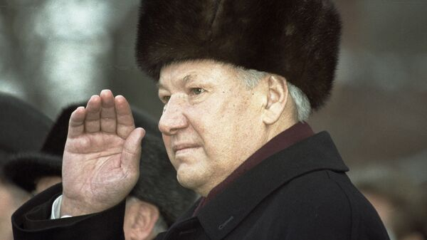 Президент РФ Борис Ельцин.
