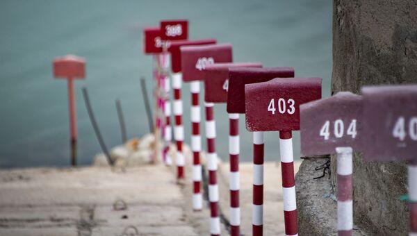 Уровень воды в Аянском водохранилище