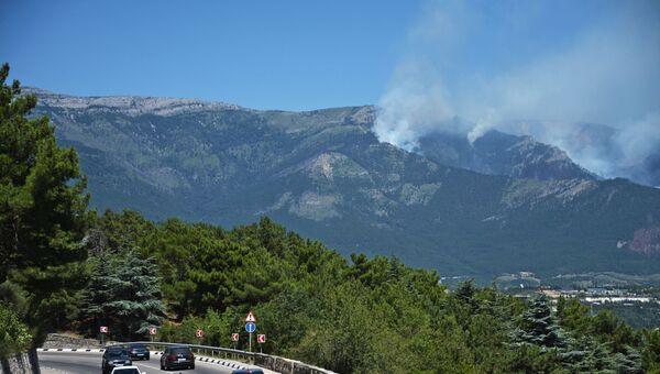 Тушение пожаров в горнолесном заповеднике над Ялтой