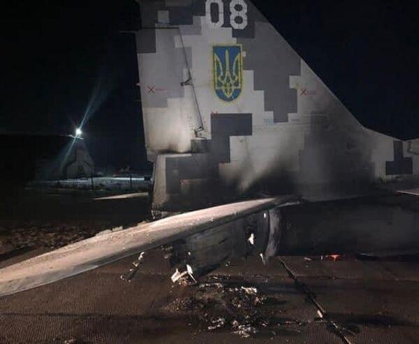 Самолет после столкновения