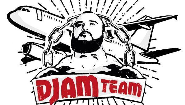 Логотип, который Джамшид Исматиллаев использовал при установке рекорда