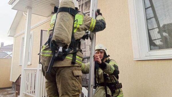 Пожар в Симферополе