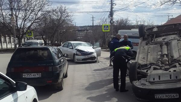 ДТП на ул. Битакская в Симферополе