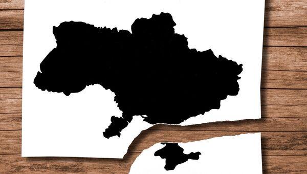 Карта Украины без Крыма