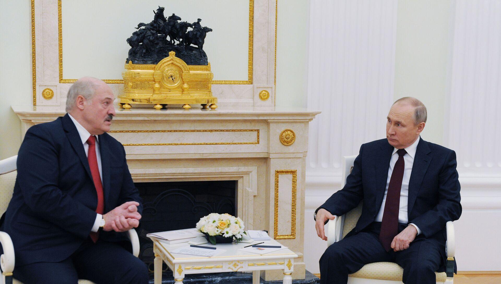 Президент РФ В. Путин встретился с президентом Белоруссии А. Лукашенко - РИА Новости, 1920, 22.04.2021