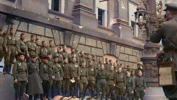 Цветные кадры времен Второй мировой войны