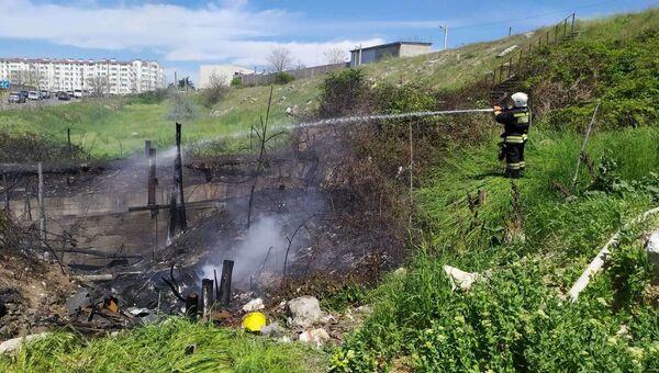 Пожар в районе Камышового шоссе