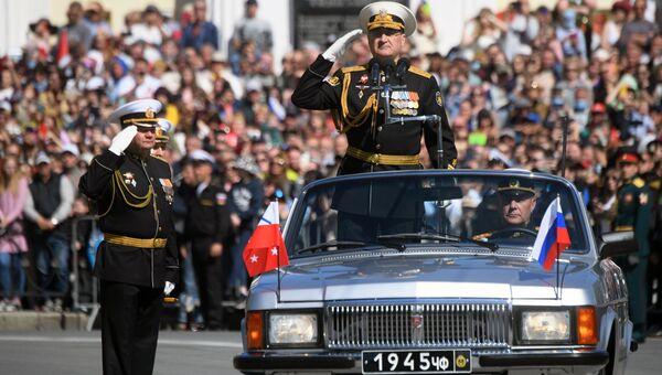 Военный парад в городах России, посвящённый 76-й годовщине Победы