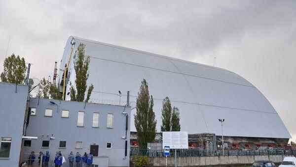 Новый безопасный конфайнмент (НБК) на Чернобыльской атомной электростанции (ЧАЭС)
