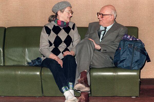 Академик Сахаров с женой Еленой Боннер