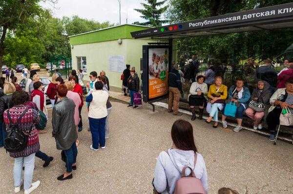 Эвакуация Республиканской детской клинической больницы в Симферополе