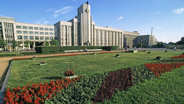 Здание парламента Республики Белоруссии в городе Минске