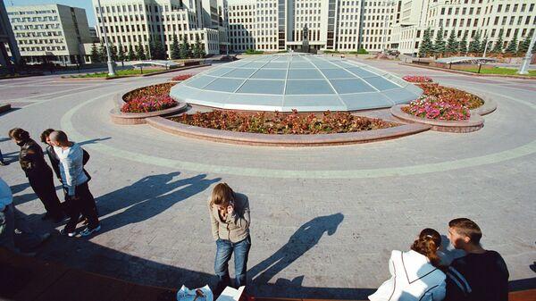Здания Правительства Республики Беларусь со стороны площади Независимости в Минске