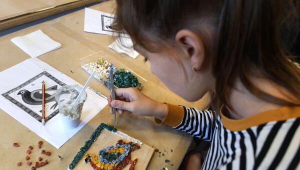 Процесс создания мозаики